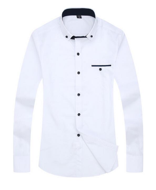 2015 high end gentleman men long sleeve shirt business for High end men s dress shirts