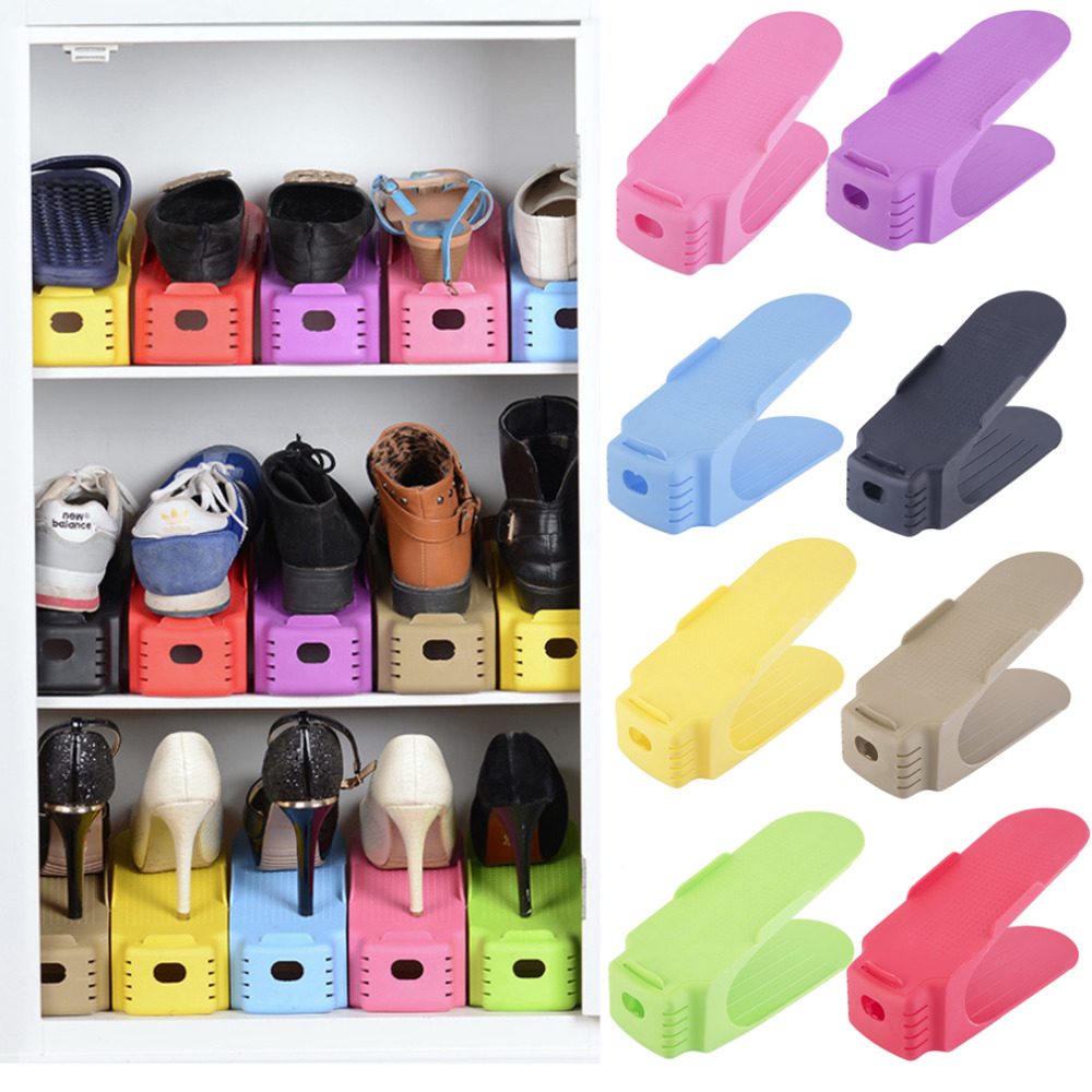 2016 New Popular Shoe Racks Modern Double Cleaning Storage Shoes Rack Living Room Convenient Shoebox Shoes Organizer Stand Shelf(China (Mainland))