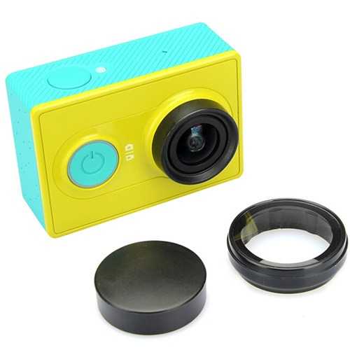 Accessories For Xiaomi Yi Action Camera UV Mirror And Plastic Lens Cover Cap Lens Protect case For Xiaoyi Sport Camera(China (Mainland))