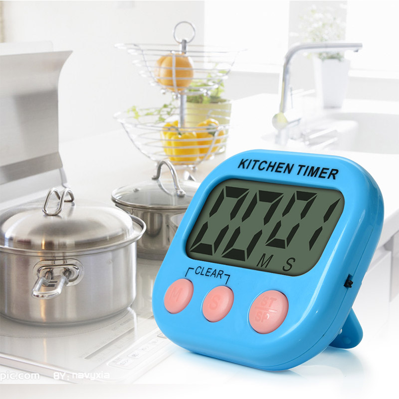Cute 99 Minutes Digital LCD Kitchen Timer Memory Function Alarm Clock Count Up / Countdown Timer Sports Cooking Tools With Stand(China (Mainland))