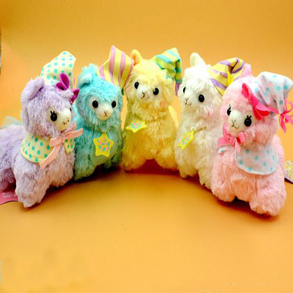 17cm Good Night Alpaca Toys 5 Color Adora Doll Fluffy Japan Alpacasso Plush Dolls Small Llama Toy Bag Pendents(China (Mainland))