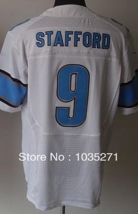Hot Sale Elite American Football Jersey #9 Matthew Stafford Jersey,Stitched Logo Embroidery Sport Jersey Best Quality,Free Shipp(China (Mainland))