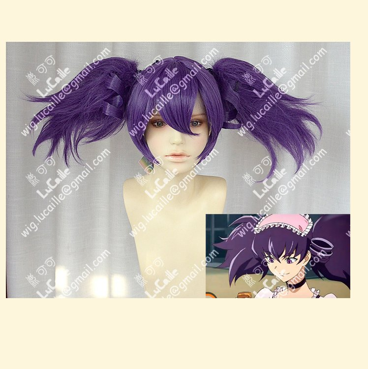 Supply a lots of stock,Short Purple Culy Party Cosplay Costume Wig,Synthetic Hair,Free Shipping<br><br>Aliexpress