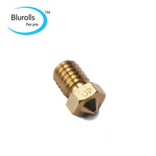 3D printer accessory parts DIY brass E3D-V6 nozzle 0.4 mm1.75 mm filament E3D V6 hotend marked number