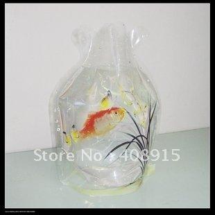 Plastic foldable fish bowl w15xh19cm 10pcs lot folding for Restaurants with fish bowl drinks near me