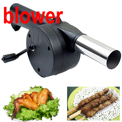 New BBQ Fan Hand Fan Cranked Outdoor Picnic Camping BBQ Barbecue Tool Fan/Blower Barbecue Fire LHM089 #25(China (Mainland))