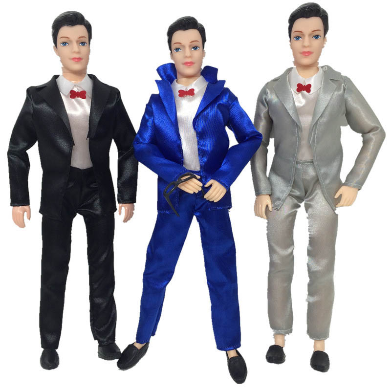 3Pcs/set Handmade Doll Clothes For Ken Doll Business Wedding Suit For Barbie's Boy Firend Ken Doll Accessories Kids Toy(China (Mainland))