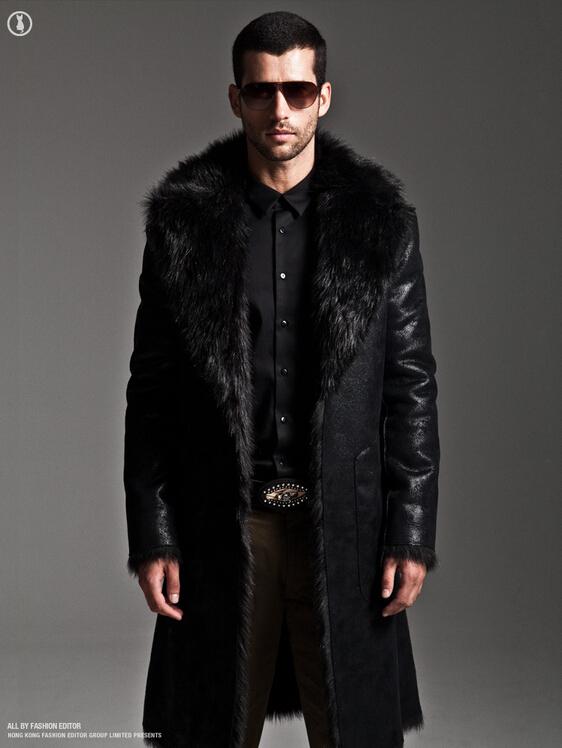 Mens Leather fur Coats Mink Hair jacket Men's double-sided Winter Full Length Parka Longer Section Thick Mens Leather fur Coats(China (Mainland))