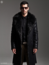 Leather Jacket Mink Hair jacket Men's double-sided Winter Full Length Parka Longer Section Thick Fur Coat Imitation Fur Coat
