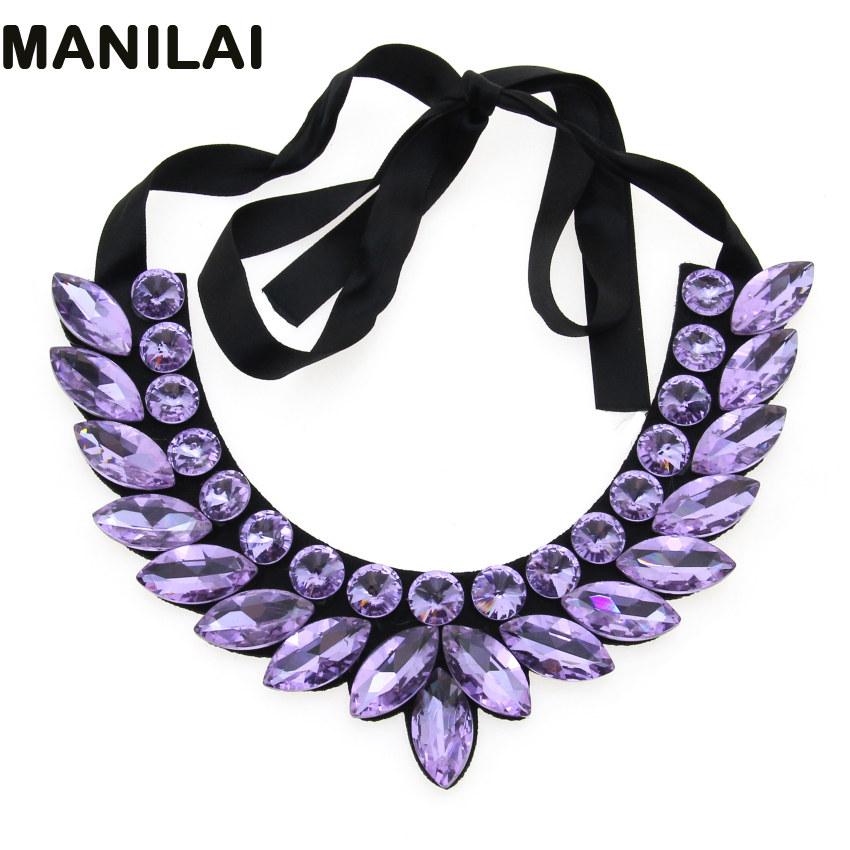 Hand Made Crystal Beads Choker Women Fashion Collar Necklace Dress Accessories Statement Jewelry(China (Mainland))