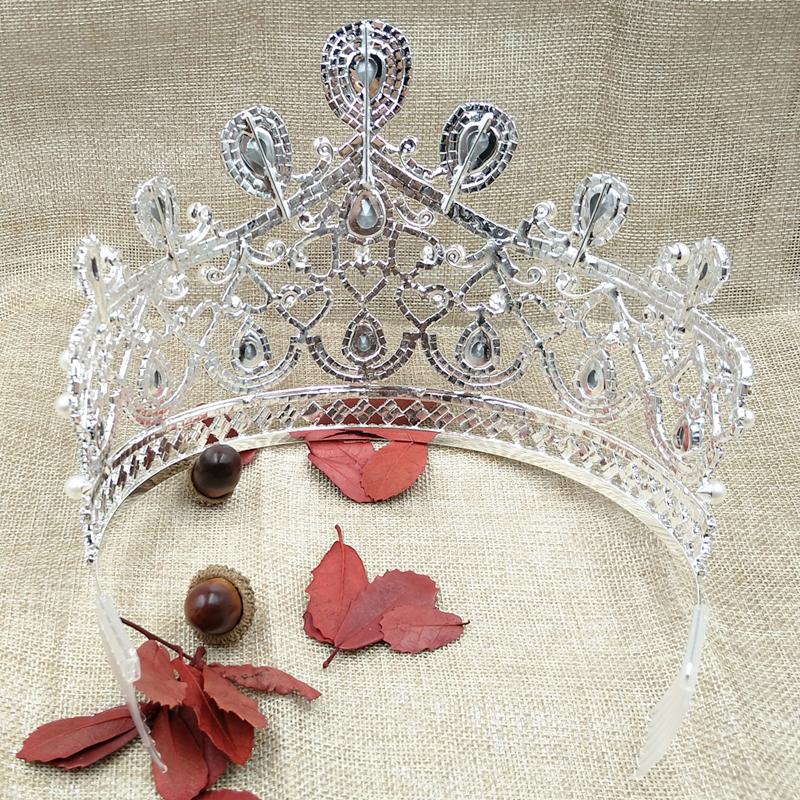 zerongE-jewelry-gorgeous-rhinestone-tiara-silver-large-tall-pageant-brillian-tiara-pearl-tiara-for-wedding-bridal (4)
