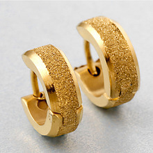Fashion stud earrings 2015 design bijoux gold punk Men's Earrings New Stainless Steel & Titanium Steel Stud Earrings men jewelry(China (Mainland))