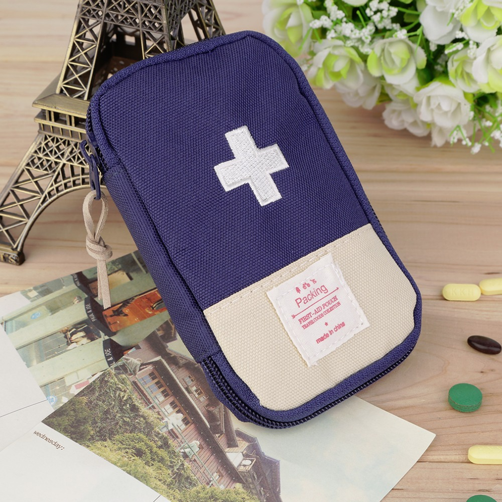 New Outdoor Camping Home Survival Portable First Aid Kit bag Case free shipping(Dark Blue)(China (Mainland))
