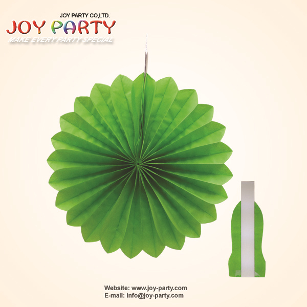 10 pcs/lot Free Shipping 25cm (10 inch) Apple Green Tissue Paper Honeycomb Fan Flower Garden Christmas Party Hanging Decoration(China (Mainland))