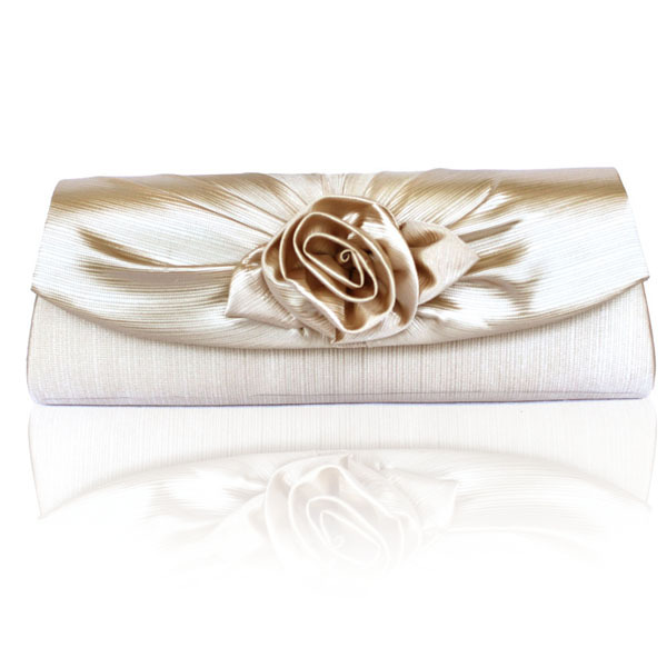 fashion noble flower evening bag banquet party bag silk quality wedding bridal dress handbag(China (Mainland))
