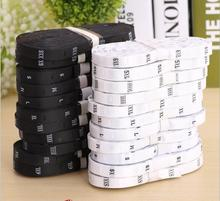 Free shipping customized polyester satin size label black or white color size tags 500pcs/lot(China (Mainland))