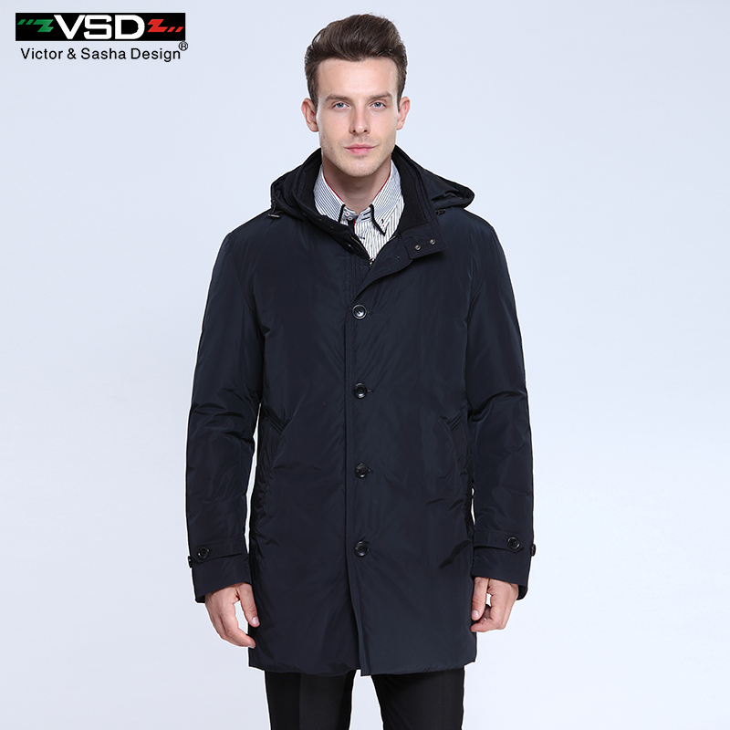 VSD 2016 New Long Winter Down Jacket Real Fur Collar Men's High Quality Clothing Casual Jackets Thickening Parkas Male Big Coat(China (Mainland))