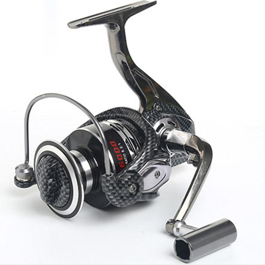High Quality 13BB 5.2:1 Fishing Pesca Metal Front Drag Okuma Spinning Reel 500-10000 Aluminum Fishing Reel Wheel(China (Mainland))