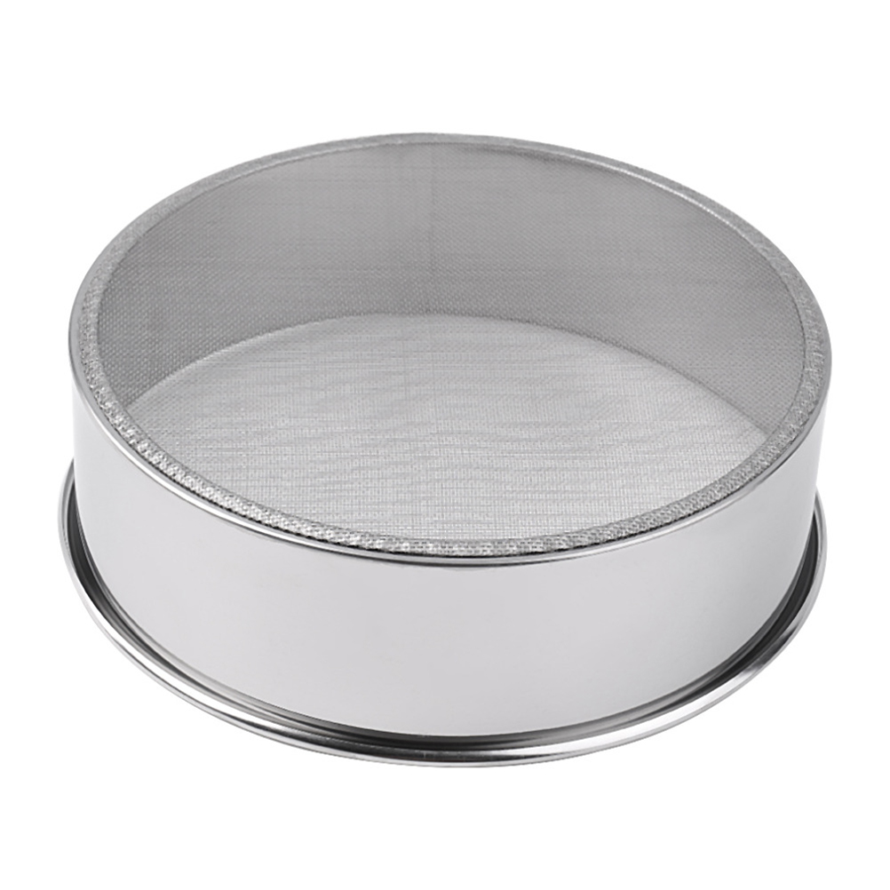 Kitchen Fine Mesh Flour Sifter Stainless Steel Silver Net Flour Sieve Sifting Strainer Cake Baking Powdered Sugar Filter Mesh(China (Mainland))