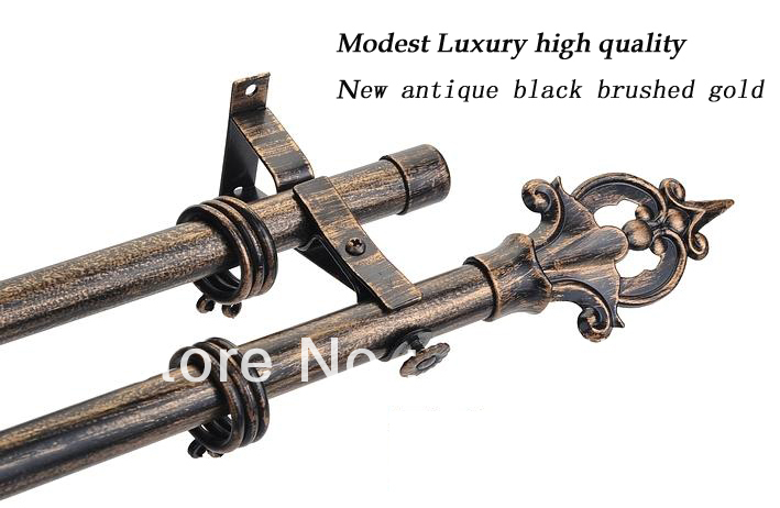 ... curtain rod with iron art finial-21 by plating antique copp van