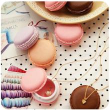 12 pcs/Lot Cute candy stationery storage box Mini macaron case for clips eraser jewelry organizer zakka Table decoration 5028(China (Mainland))