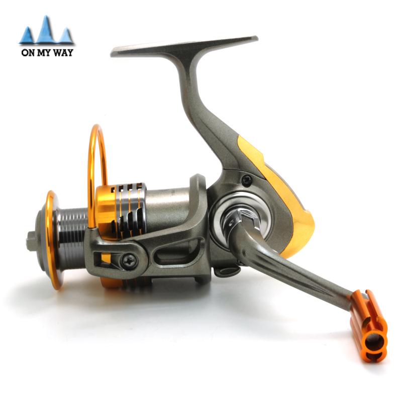 High Quality Spinning Fishing Reel 11BB 5.2:1 1000-7000 Series Metal Spool Carp Fishing Reels steel body(China (Mainland))