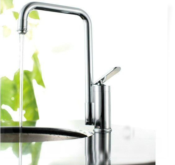 torneira press shipping2013 new design single handle kitchen mixer tap,mirror bright chrome contemporary kitchen faucet water ba(China (Mainland))