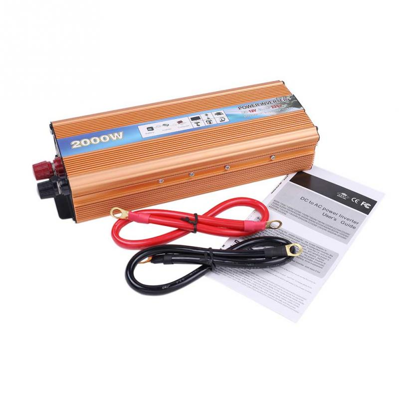 2000W Car Power Inverter DC 12V to AC 220V Modified Sine Wave Converter with USB(China (Mainland))