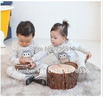 3sets/lot, Baby Girls & Boys Autumn/Winter Pajamas Set Children pajamas, Penguin Style Sleep Wear, 583#