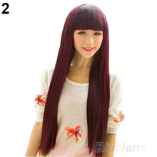 New Style Fashion Long Straight women wigs Full Hair Wigs Cosplay/Party 08QX(China (Mainland))