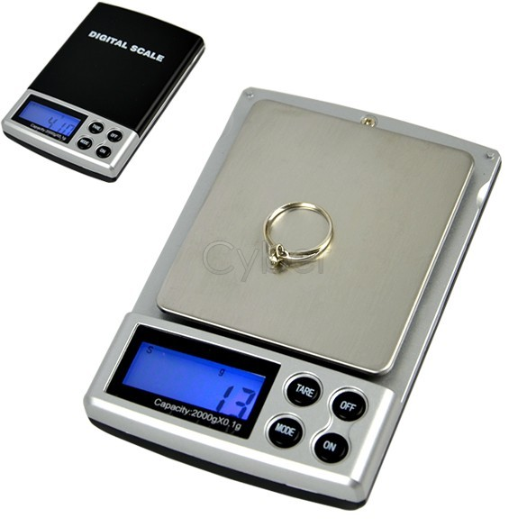 Holiday Sale 2000g x 0.1g Pocket Digital Weigh Jewelry Scale Balance Free Shipping 34