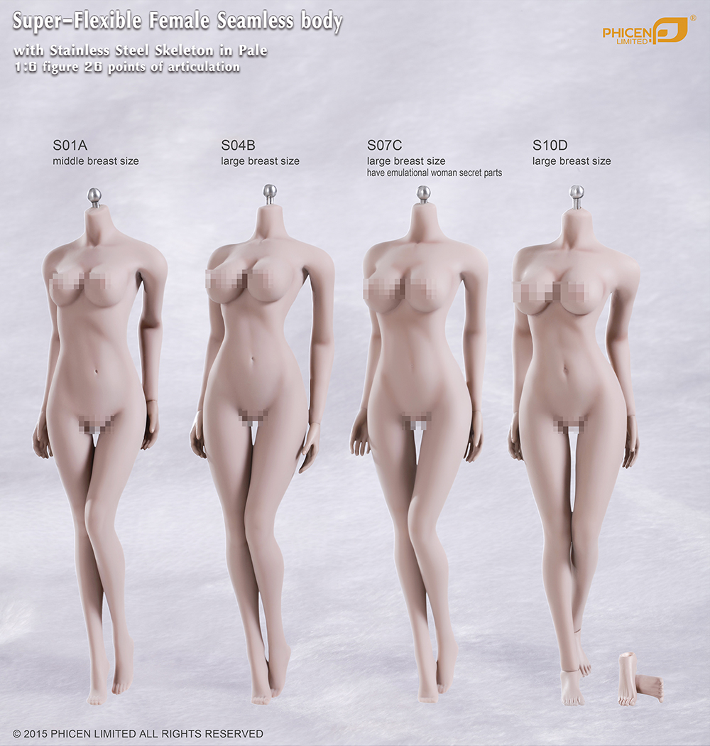 1/6 Scale female body for 12