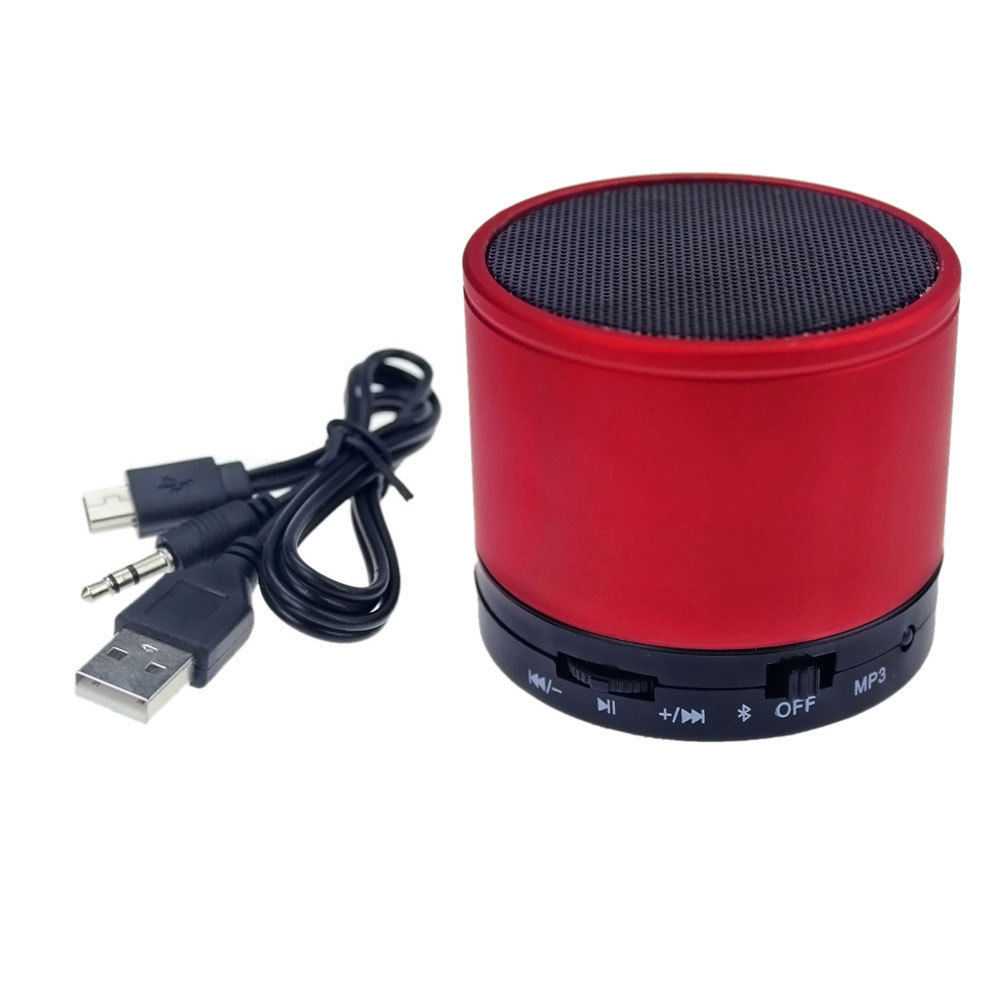 Cool Mini Portable Wireless Bluetooth Red Speaker Audio Sound Subwoofer Amplifier Stereo For iPhone Mobile Phone MP4 Tool(China (Mainland))