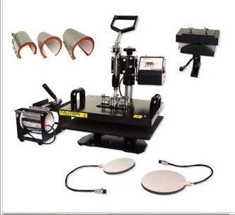 t shirt heat press printing machine combo heat press printing machine 8 in 1 combo heat