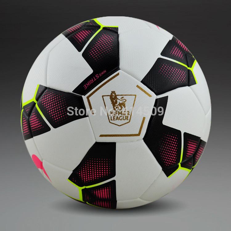 Free shipping 2015-2016 Premier League football ball PU granule slip-resistant football Size 5 seemless soccer ball(China (Mainland))