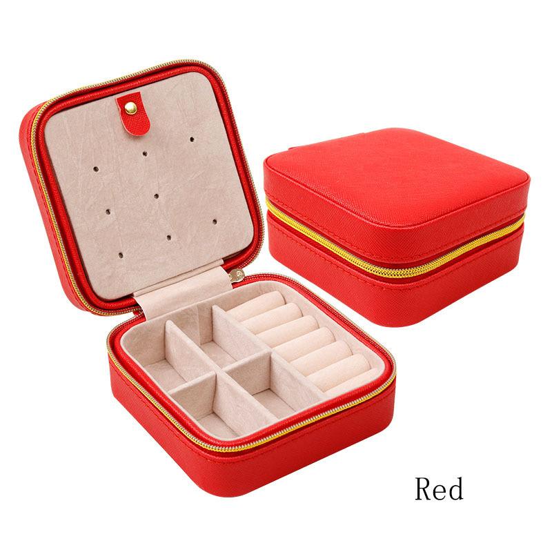 Portable travel Jewelry Box Necklace Bracelet ear stud Gift Display Box Jewellery Storage Cosmetic Box Jewelry Organizer Holder(China (Mainland))