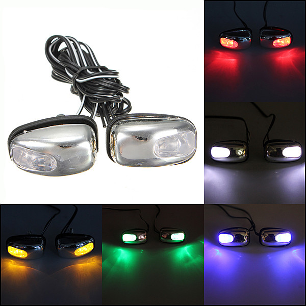 2015 New 2x Chrome Blue LED Light Lamp Windshield Jet Spray Nozzle Wiper Washer Eyes<br><br>Aliexpress