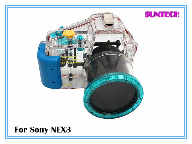 Free shipping Universal waterproof case 40M underwater sling bag/shell for sony NEX3 long shot(18-55mm)