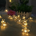 8M 50 LED Cherry Floral LED Garland String Lights Battery Wedding party room Holiday Lighting Christmas