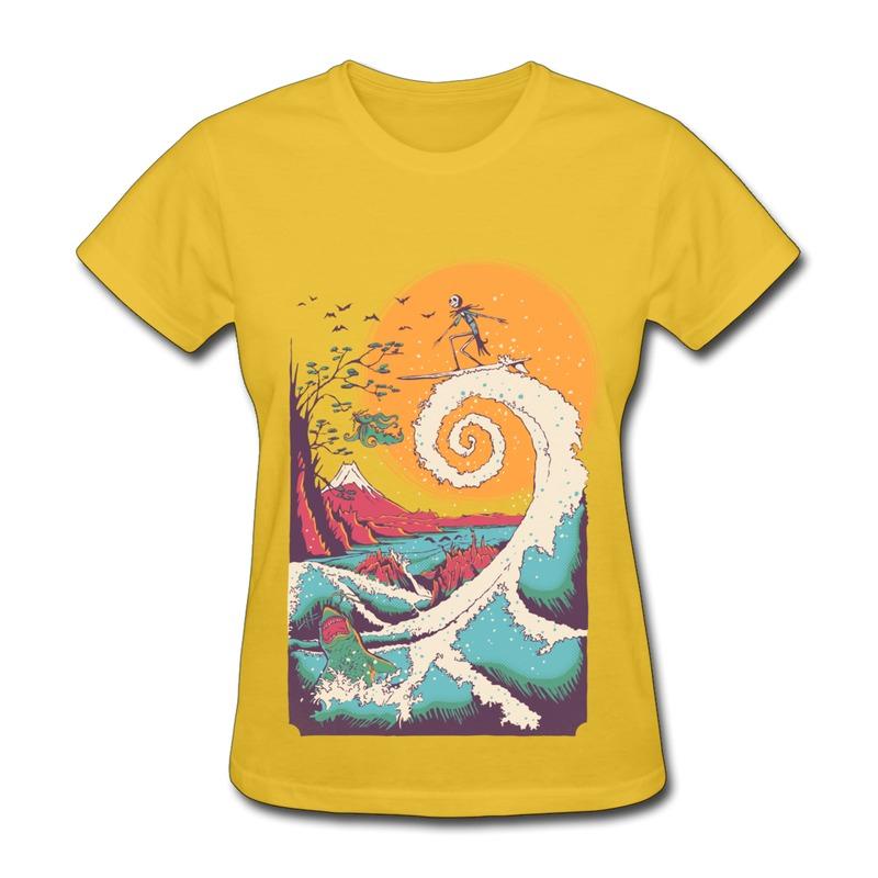 2014 new summer gildan girl cool women t shirt surfing for Dropship t shirt business