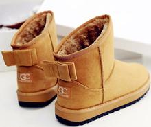 Moda de invierno para tobillo botas botas femininas UG C botas de nieve 2016 Bowtie zapatos chaussure femme mujer botines(China (Mainland))