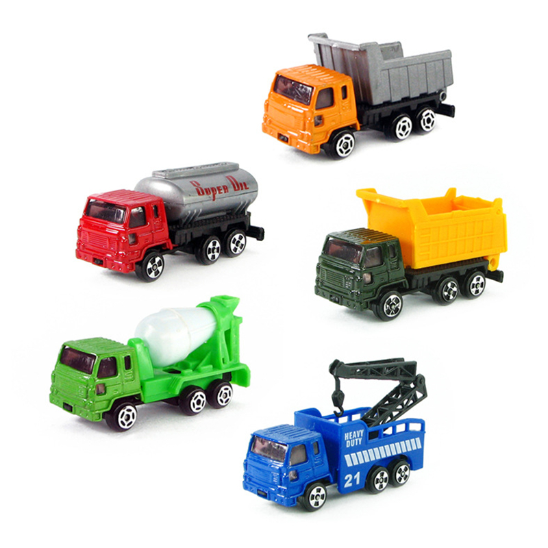 5pcs Alloy Engineering Car Tractor Toy Model Farm Vehicle Boy Toy Car Model Dump Truck Artificial Model for Kids(China (Mainland))