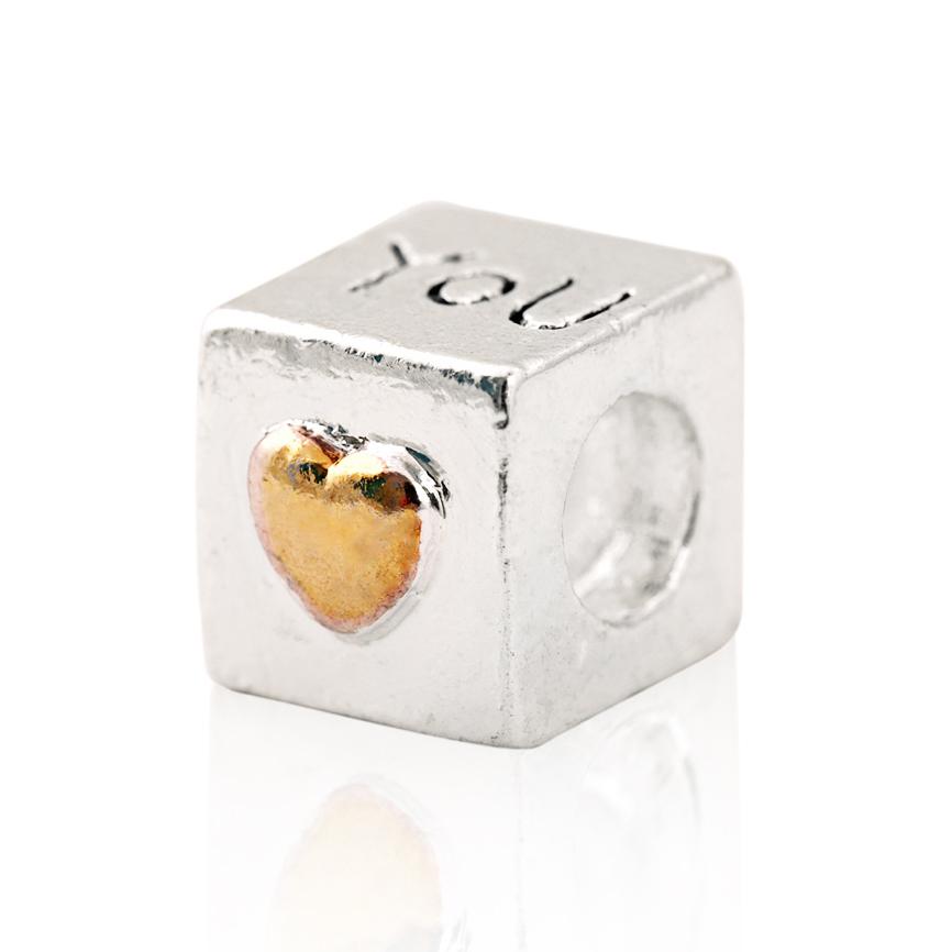 "free shipping 925 Fashion Bead Charm "" You Heart "" Bead European Silver Bead Fit Pandora Bracelet H268(China (Mainland))"