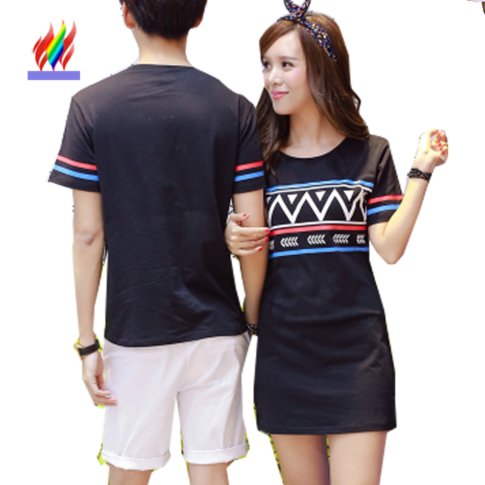 Shirt design buy - New Designer Tops Cute Sweet For Lovers Couples Clothes Summer Casual Printed T Shirt Black