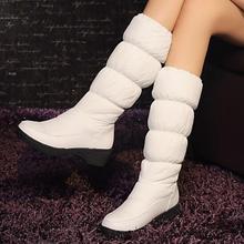 C2340 tamaño Grande 34-43 mujeres botas de nieve caliente zapatos de invierno cálido para mujer Zapatos de Mujer plataforma fur rodilla botas altas zapatos de barcos(China (Mainland))