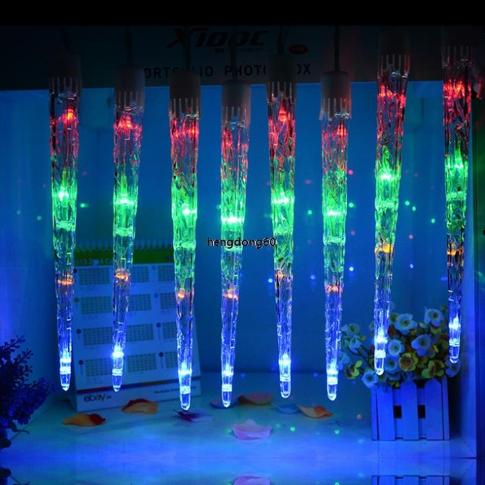 Led dripping icicle lights outdoor democraciaejustica icicle string led dripping light outdoor christmas wedding aloadofball Choice Image