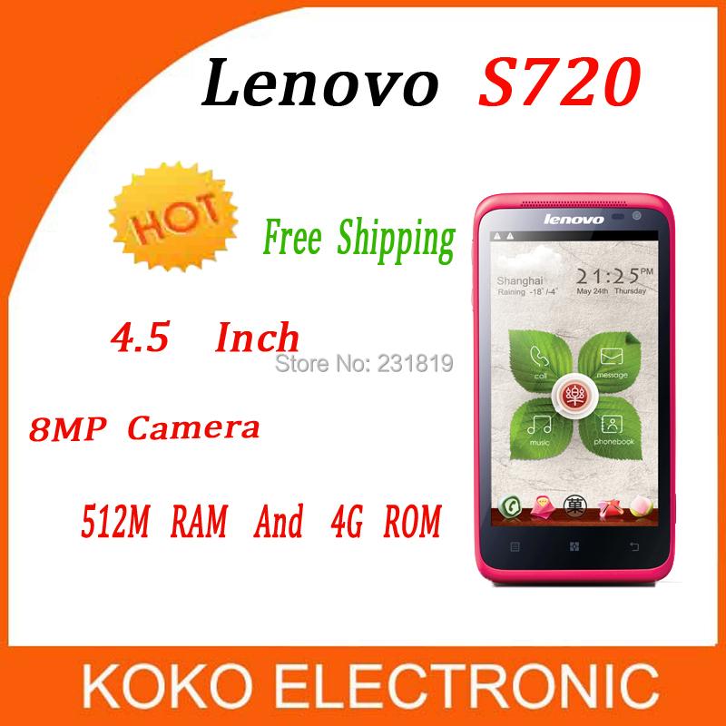 Original Lenovo S720 S720i Smartphone Dual Core Mobile Phone MTK6577 512M RAM 4G ROM Android 4.0 Cell Phones Multi Language(China (Mainland))