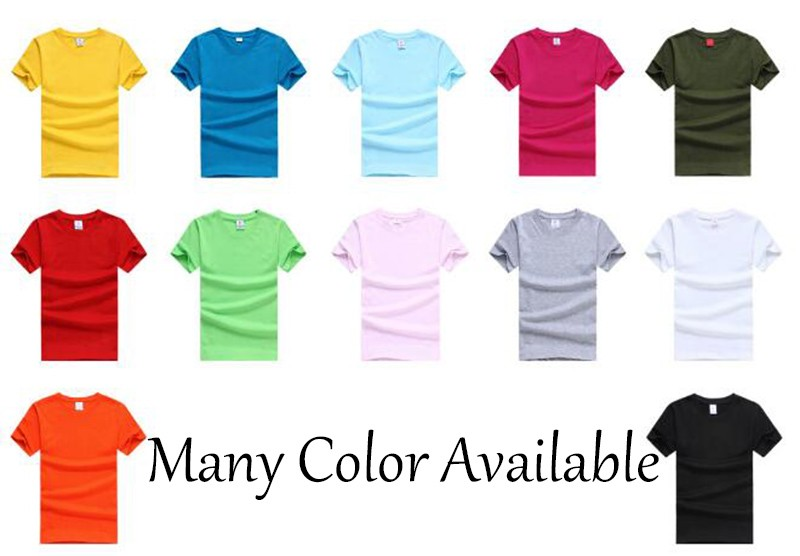 Free Shipping 10pcs/Lot DIY Crew Neck tshirt 100% Cotton Blank T-Shirt Men's Solid Plain t shirt Slim Shirt Size M-3XL