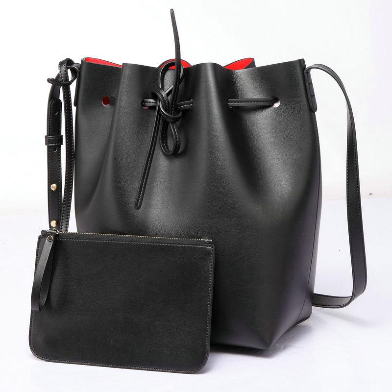 Women Shoulder Bag Famous Brand Mini Bucket Bag Drawstring Bucket Crossbody Bag Messenger with Logo Printed Retail and Wholesale(China (Mainland))