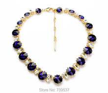 2014 New Designer Jewelry Bling Crystal Stone Collar Necklace For Women's Gift(China (Mainland))